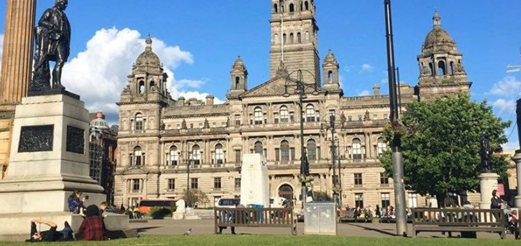 Paige Richards: Beautiful sunny day at George Square