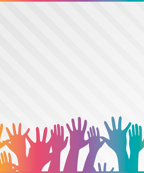 Get Involved Glasgow colourful hands logo